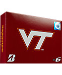 Bridgestone e6 NCAA Virginia Tech Hokies Golf Balls - 12 Pack