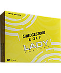 Bridgestone Women's Lady Precept Yellow Golf Balls - 12 Pack
