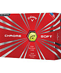 Callaway New Chrome Soft Yellow Golf Balls - 12 Pack