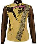 Jamie Sadock Women's Diagonal Dot Print Long Sleeve Top