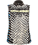Jamie Sadock Women's Cobra Print Sleeveless Polo