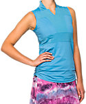 LIJA Women's Cinch-It-To-Win-It Sleeveless Polo