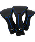 Maxfli Black/Blue Headcovers - 3 Pack