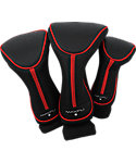 Maxfli Black/Red Headcovers - 3 Pack
