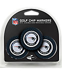 Team Golf New England Patriots Golf Chips - 3 Pack
