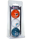 Team Golf NFL Miami Dolphins Golf Balls - 3 Pack