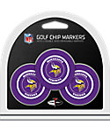 Team Golf Minnesota Vikings NFL Golf Chips - 3 Pack