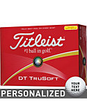 Titleist DT TruSoft Yellow Personalized Golf Balls - 12 Pack