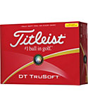 Titleist DT TruSoft Yellow Golf Balls - 12 Pack