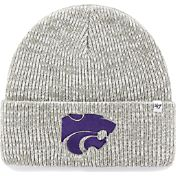 '47 Men's Kansas State Wildcats Heathered Grey Brain Freeze Cuffed Knit