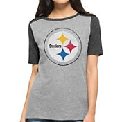 '47 Women's Pittsburgh Steelers Empire Grey T-Shirt