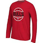 adidas Men's Chicago Bulls climalite Red Long Sleeve Shirt