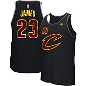 adidas Men's Cleveland Cavaliers LeBron James #23 Black Tank Top