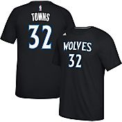 adidas Men's Minnesota Timberwolves Karl-Anthony Towns #32 climalite Black T-Shirt