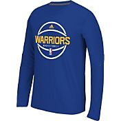 adidas Men's Golden State Warriors climalite Royal Long Sleeve Shirt