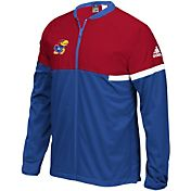 adidas Men's Kansas Jayhawks Blue On-Court Basketball Jacket