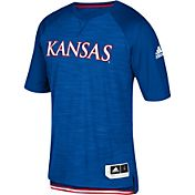 adidas Men's Kansas Jayhawks Shooter Blue Short Sleeve T-Shirt