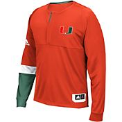 adidas Men's Miami Hurricanes Orange Shooter Long Sleeve Shirt