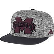 adidas Men's Mississippi State Bulldogs Grey Sideline Player Snapback Adjustable Hat
