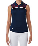 adidas Women's climacool Star Lace Chest Sleeveless Polo