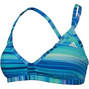 adidas Women's Gradient Stripe Sport Swimsuit Top