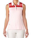 adidas Women's Melange Stripe Sleeveless Polo