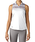 adidas Women's Merch Print Sleeveless Polo