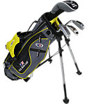 U.S. Kids Golf Ultralight Complete Set (42'' Player Height) - Grey/Yellow