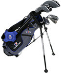 U.S. Kids Golf Ultralight Complete Set (45'' Player Height) - Grey/Blue