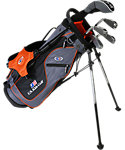 U.S. Kids Golf Ultralight Complete Set (51'' Player Height) - Grey/Orange