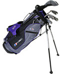 U.S. Kids Golf Ultralight Complete Set (54'' Player Height) - Grey/Purple