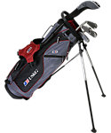 U.S. Kids Golf Ultralight Complete Set (60'' Player Height) - Grey/Maroon