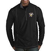Antigua Men's Pittsburgh Penguins Tempo Half-Zip Pullover Shirt