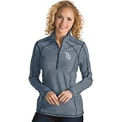 Antigua Women's Tampa Bay Rays Navy Tempo Quarter-Zip Pullover