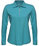 Bette & Court Women's Cool Elements Mesh Long Sleeve Polo