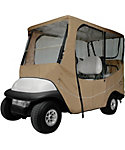 Classic Accessories Fairway Travel Long Roof Khaki Golf Cart Enclosure