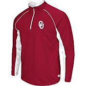 Colosseum Athletics Men's Oklahoma Sooners Crimson Airstream Quarter-Zip Windshirt