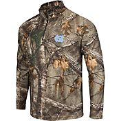 Colosseum Athletics Men's UNC Tar Heels Camo Decoy Quarter-Zip Wind Shirt