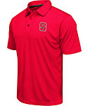 Colosseum Athletics Men's North Carolina State Wolfpack Red Heathered Performance Polo