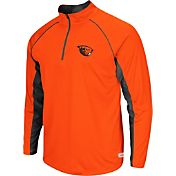 Colosseum Athletics Men's Oregon State Beavers Orange Airstream Quarter-Zip Windshirt