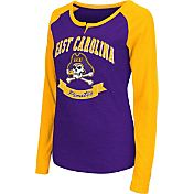 Colosseum Athletics Women's East Carolina Pirates Purple Healy Long Sleeve Shirt