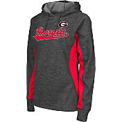 Colosseum Athletics Women's Georgia Bulldogs Grey Performance Hoodie