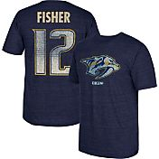 CCM Men's Nashville Predators Mike Fisher #12 Vintage Player Navy T-Shirt