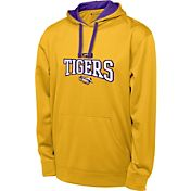 Champion Men's LSU Tigers Gold T-Formation Performance Hoodie