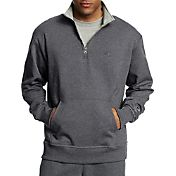 Champion Men's Powerblend Fleece Quarter Zip Sweatshirt