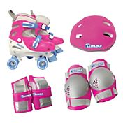 Chicago Skates Girls' Adjustable Quad Skate Combo