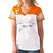 G-III For Her Women's Tennessee Volunteers White/Tennessee Orange Pass Rush T-Shirt