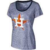 Touch by Alyssa Milano Women's Houston Astros Ringer Scoop Neck T-Shirt