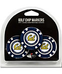 Team Golf Cal Bears NCAA Golf Chips - 3 Pack