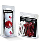 Team Golf Oklahoma Sooners NCAA Golf Balls And Tees